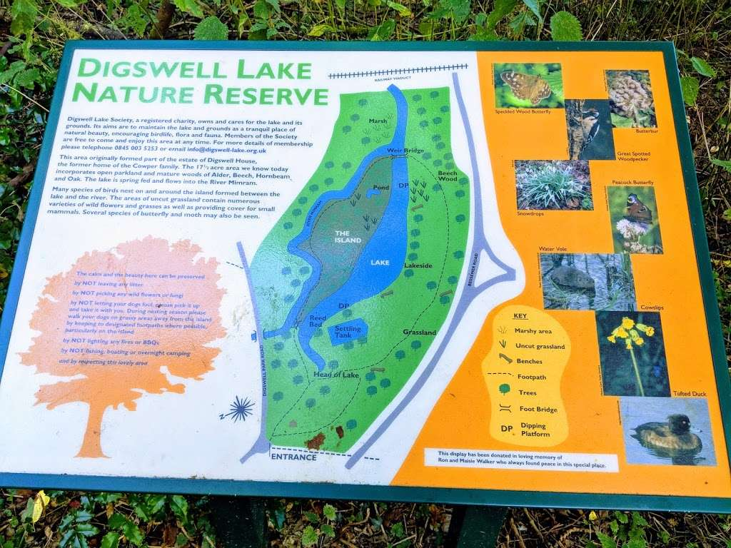 Digswell Lake Nature Reserve - park    Photo 7 of 7   Address: Digswell Park Rd, Welwyn, Welwyn Garden City AL8 7NW, UK   Phone: 0845 003 5253