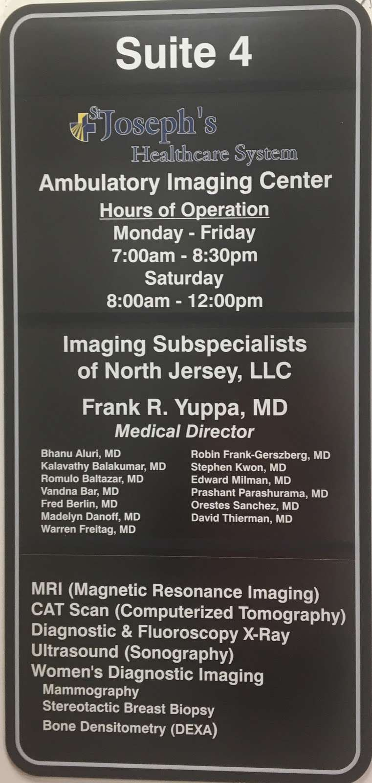 St. Josephs Ambulatory Imaging Center - health  | Photo 8 of 9 | Address: 1135 Broad St #4, Clifton, NJ 07013, USA | Phone: (973) 569-6300