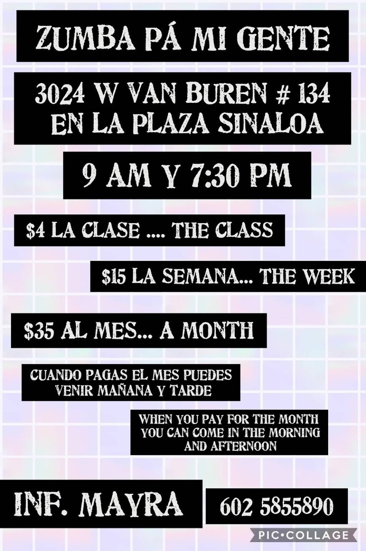Zumba Pa Mi Gente - gym    Photo 1 of 1   Address: 3020-3024, W Van Buren St, Phoenix, AZ 85009, USA   Phone: (602) 585-5890