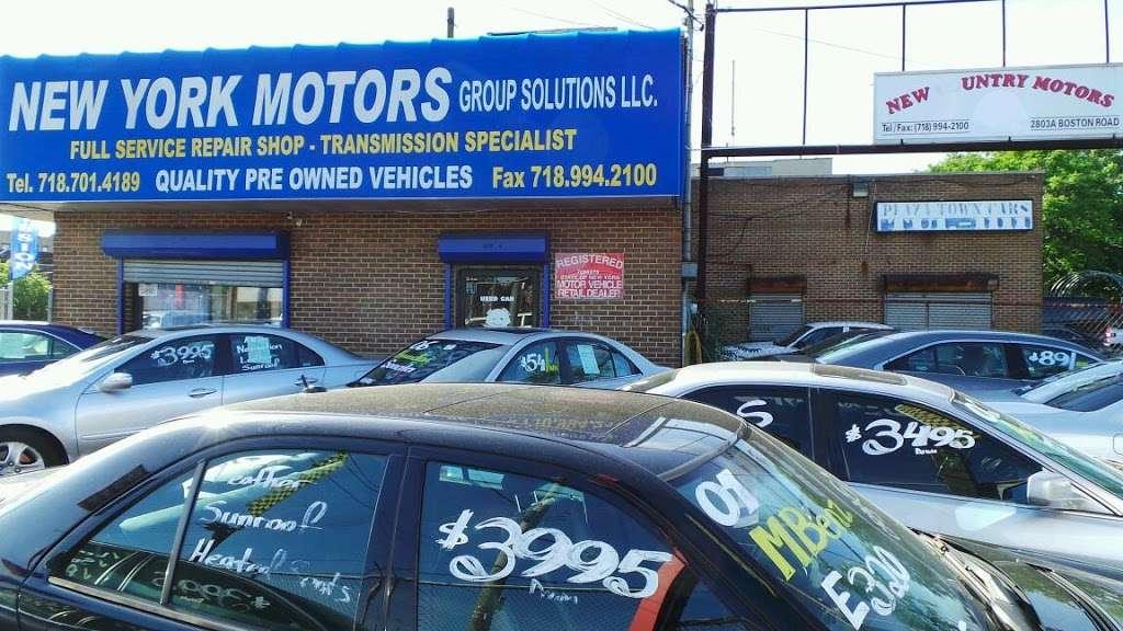 New York Motors - car repair  | Photo 1 of 2 | Address: 2803 Boston Rd, Bronx, NY 10469, USA | Phone: (646) 470-2886