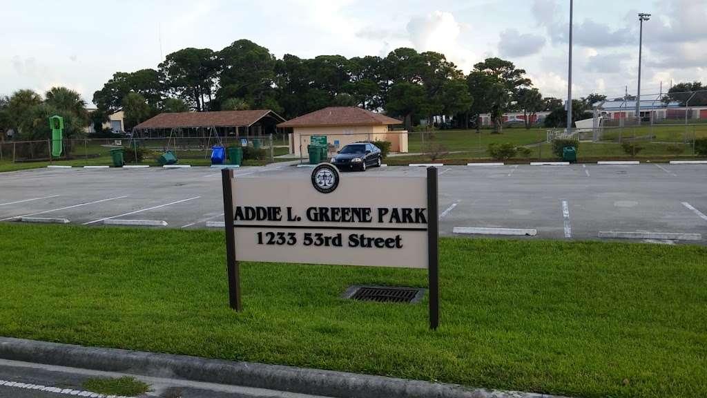 Addie L. Greene Park - park  | Photo 1 of 2 | Address: 1233 53rd St, West Palm Beach, FL 33407, USA