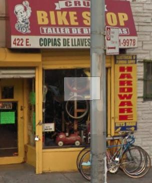 Cruz Bike Shop Taller De Bicicletas Copias De Llaves - hardware store    Photo 2 of 2   Address: 422 E 138th St, Bronx, NY 10454, USA   Phone: (929) 371-3553