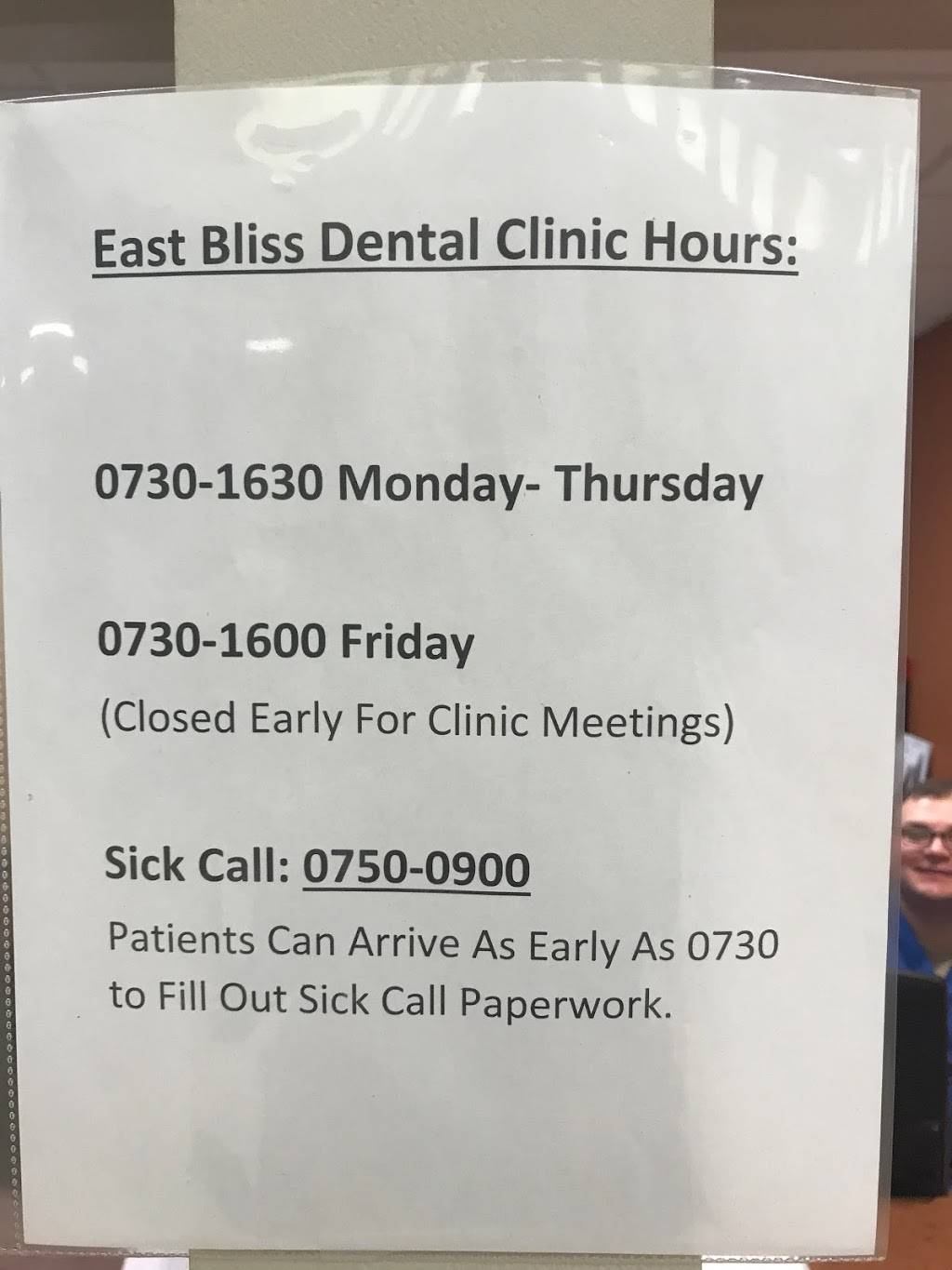 East Bliss Health and Dental Clinic (East Bliss Clinic) - hospital    Photo 9 of 10   Address: 21227 Torch St, Biggs Field, TX 79918, USA   Phone: (915) 742-4248