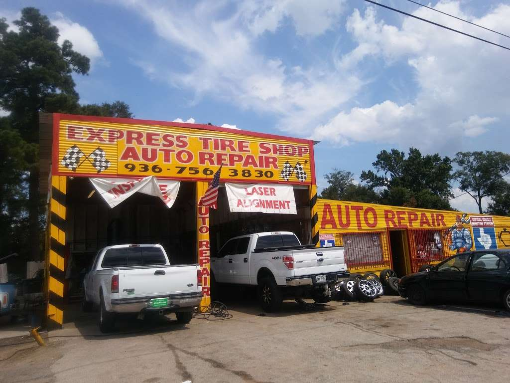 Express Tire Shop - car repair    Photo 2 of 3   Address: 11375 Old Hwy 105 E, Conroe, TX 77301, USA   Phone: (936) 756-3830