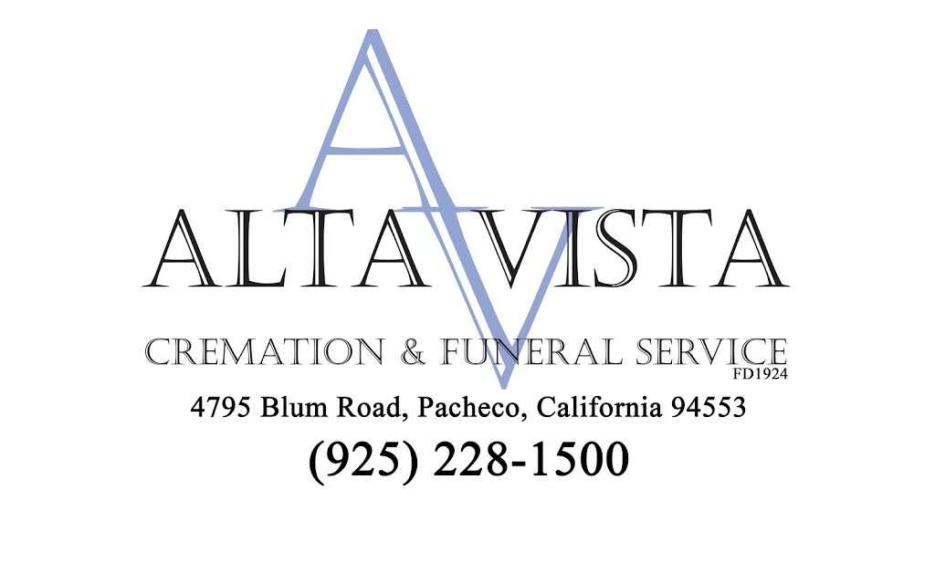 Alta Vista Cremation & Funeral Service - funeral home  | Photo 5 of 6 | Address: 4795 Blum Rd, Pacheco, CA 94553, USA | Phone: (925) 228-1500