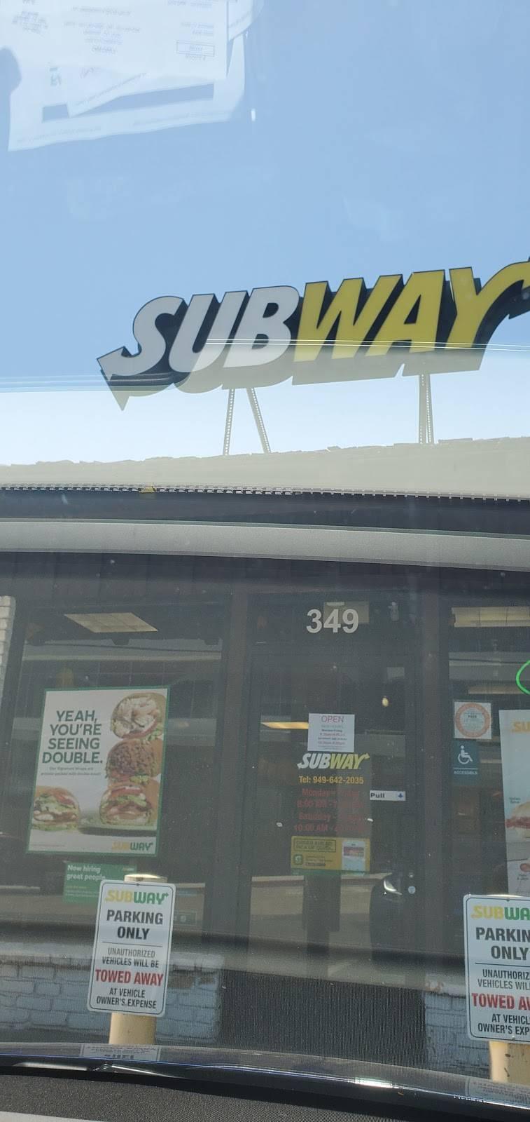 Subway - meal takeaway  | Photo 6 of 6 | Address: 349 Old Newport Blvd, Newport Beach, CA 92663, USA | Phone: (949) 642-2035