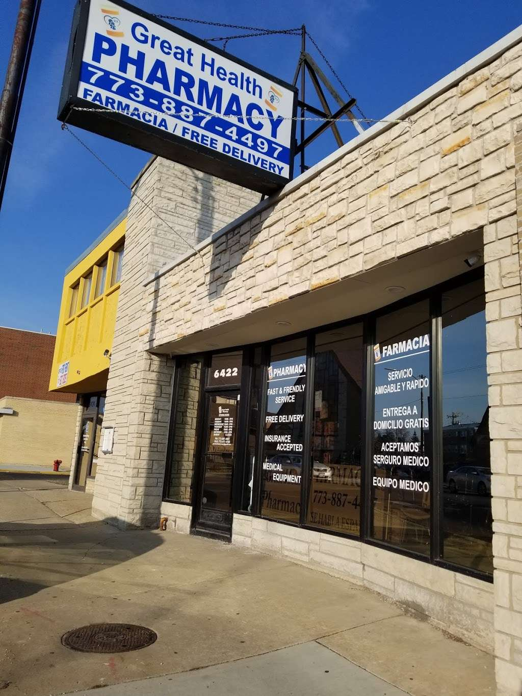 Great Health Pharmacy Inc., - pharmacy  | Photo 1 of 4 | Address: 6422 W Belmont Ave Suite 101, Chicago, IL 60634, USA | Phone: (773) 887-4497