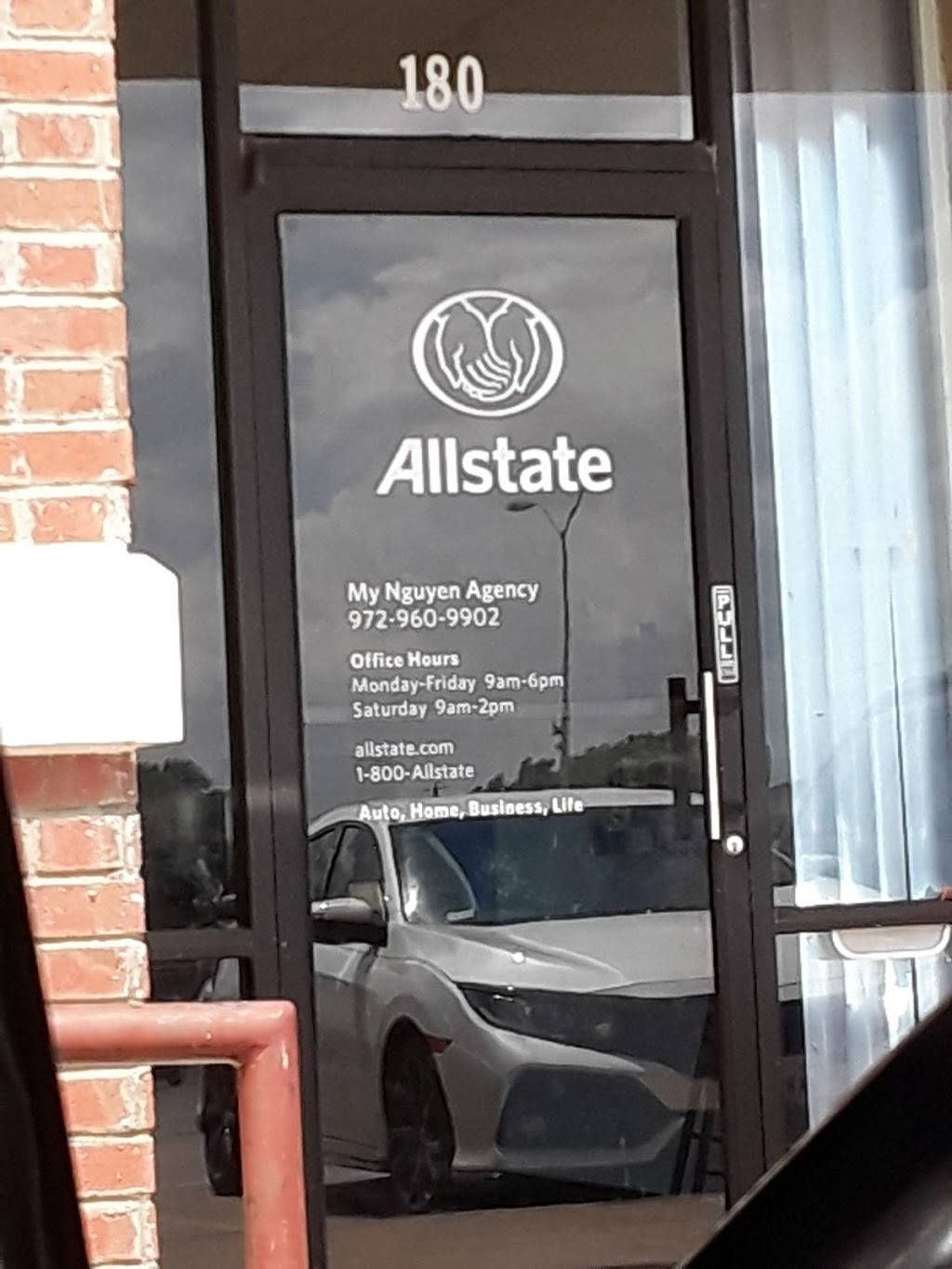 My Nguyen: Allstate Insurance - insurance agency  | Photo 1 of 2 | Address: 9780 Walnut St Ste 180, Dallas, TX 75243, USA | Phone: (972) 960-9902