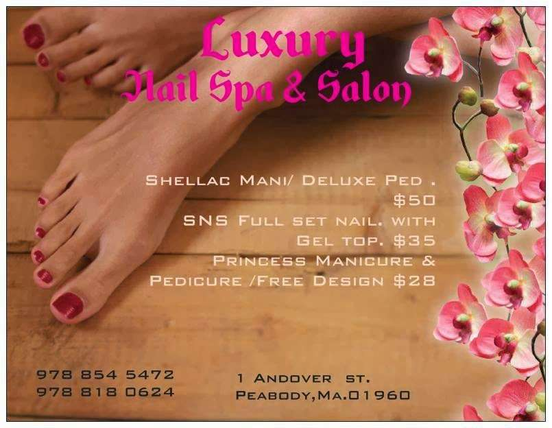 Luxury Nail Spa & Salon - hair care  | Photo 3 of 9 | Address: 1 Andover St, Peabody, MA 01960, USA | Phone: (978) 854-5472