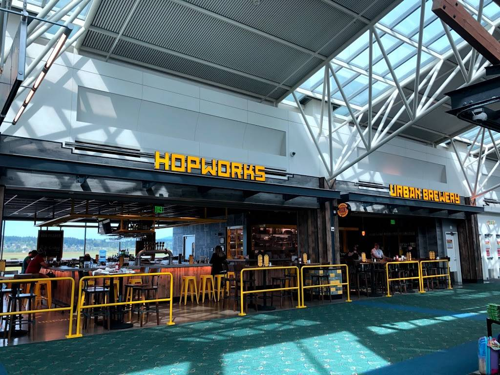 Hopworks Urban Brewery - restaurant  | Photo 8 of 8 | Address: PDX AIRPORT 7000 NE Airport Way, Concourse E, Portland, OR 97218, USA | Phone: (571) 982-0358