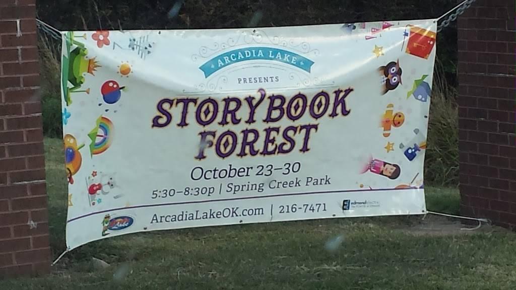 Storybook Forest - park    Photo 3 of 10   Address: 7200 E 15th St, Edmond, OK 73013, USA   Phone: (405) 216-7471