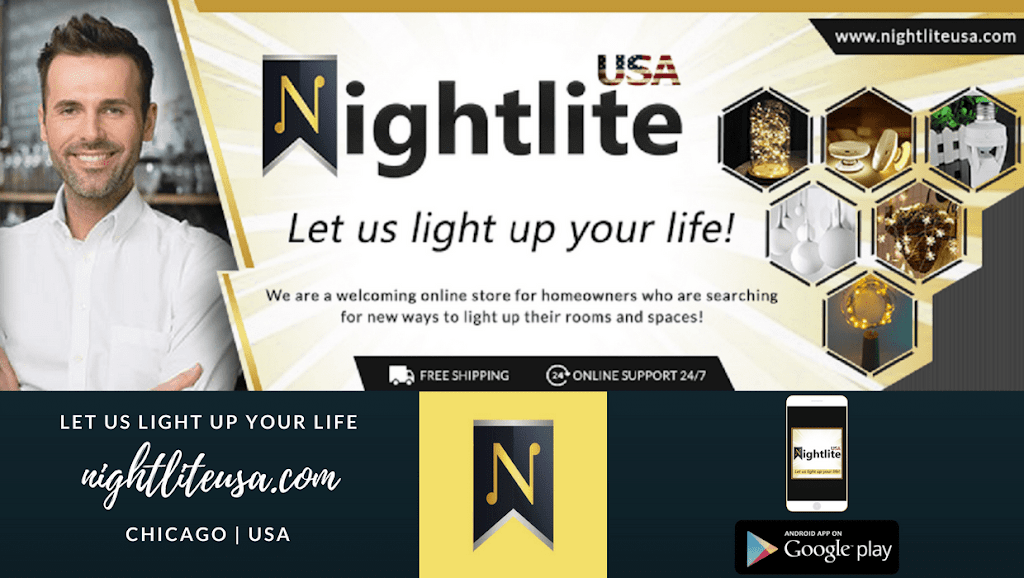 Night Lite USA - home goods store  | Photo 1 of 5 | Address: 6320 W Higgins Ave #304, Chicago, IL 60630, USA | Phone: (773) 981-2084