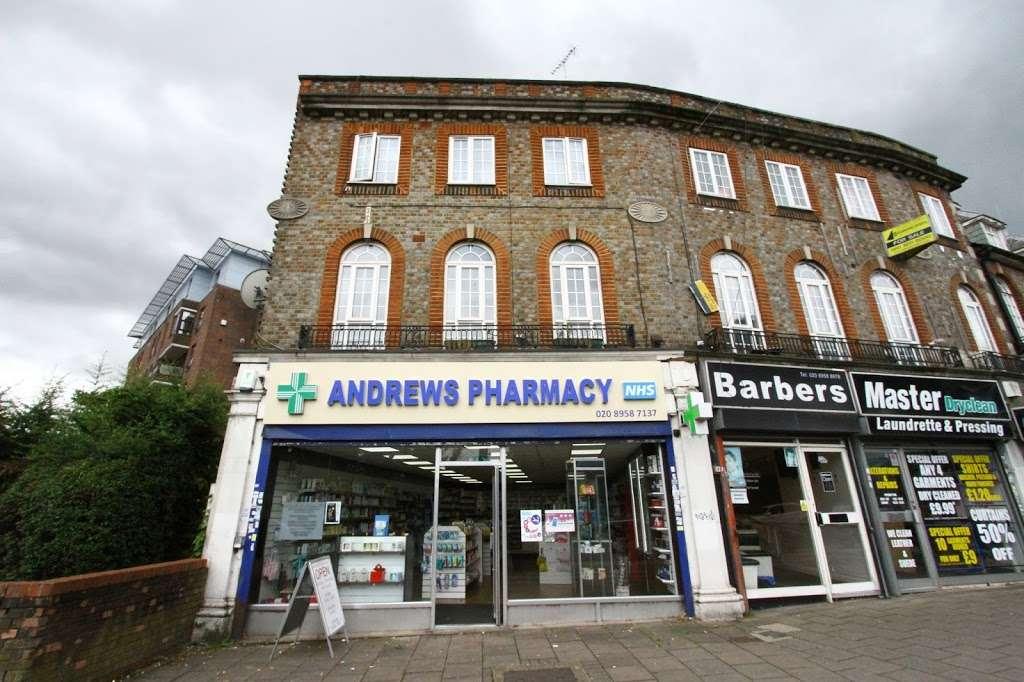 Andrews Pharmacy - pharmacy    Photo 2 of 10   Address: 9 Canons Corner, Stanmore, Edgware HA8 8AE, UK   Phone: 020 8958 7137
