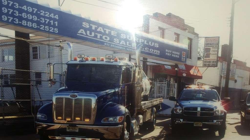 State Surplus Auto Sales - car dealer    Photo 6 of 10   Address: 833 Broadway, Newark, NJ 07104, USA   Phone: (973) 497-2244