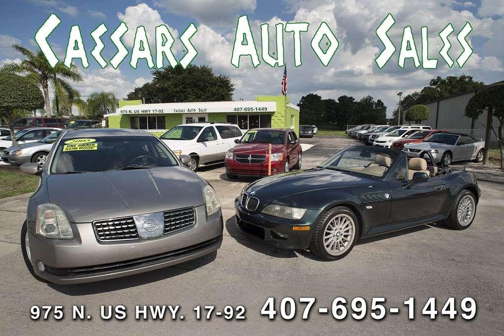 Caesars Auto Sales - car dealer    Photo 3 of 10   Address: 975 N US Hwy 17 92, Longwood, FL 32750, USA   Phone: (407) 695-1449