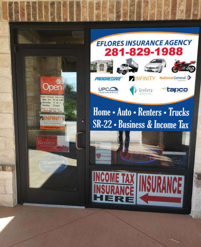 EFlores Insurance Agency - insurance agency  | Photo 6 of 9 | Address: 5751 Greenhouse Rd #106, Katy, TX 77449, USA | Phone: (281) 829-1988