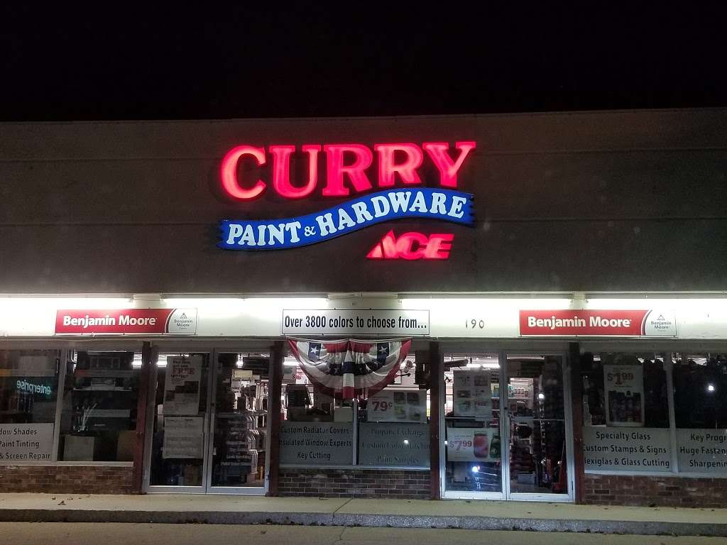 Curry Ace Paint & Hardware - Braintree - hardware store    Photo 2 of 4   Address: 190 Quincy Ave, Braintree, MA 02184, USA   Phone: (781) 843-1616