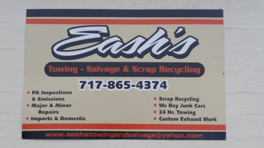 Eashs Towing and Salvage - car repair  | Photo 3 of 4 | Address: 309 N Mechanic St, Fredericksburg, PA 17026, USA | Phone: (717) 865-4374