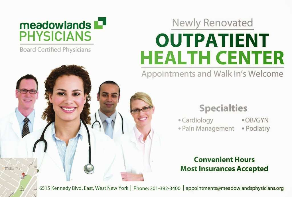Meadowlands Physicians Outpatient Health Center - health  | Photo 8 of 8 | Address: 6515 John Fitzgerald Kennedy Blvd, West New York, NJ 07093, USA | Phone: (201) 868-0021