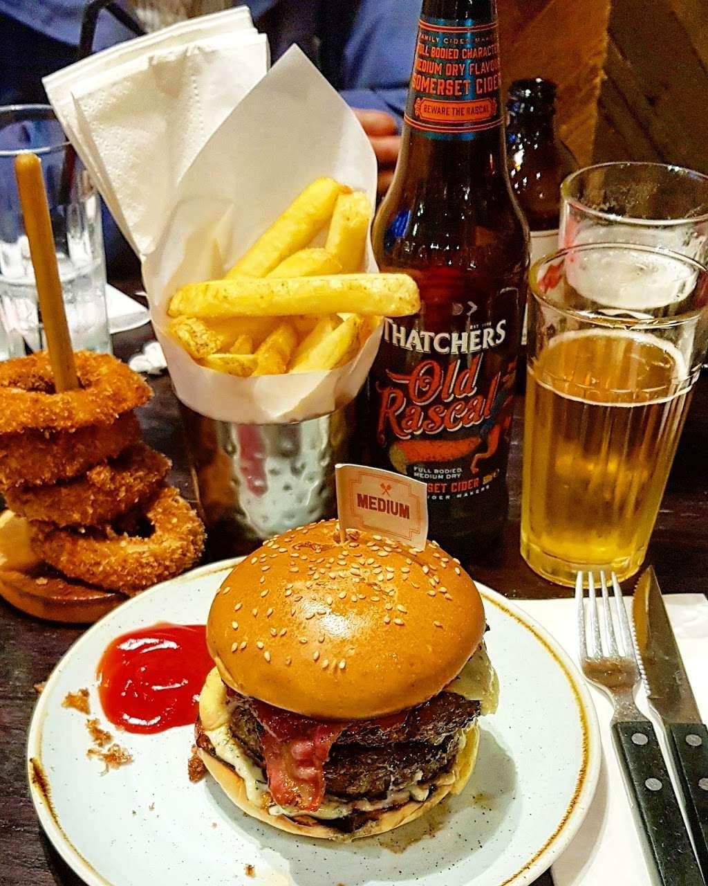 Gourmet Burger Kitchen (Baker Street) - restaurant  | Photo 7 of 10 | Address: 102 Baker St, Marylebone, London W1U 6TL, UK | Phone: 020 7486 8516