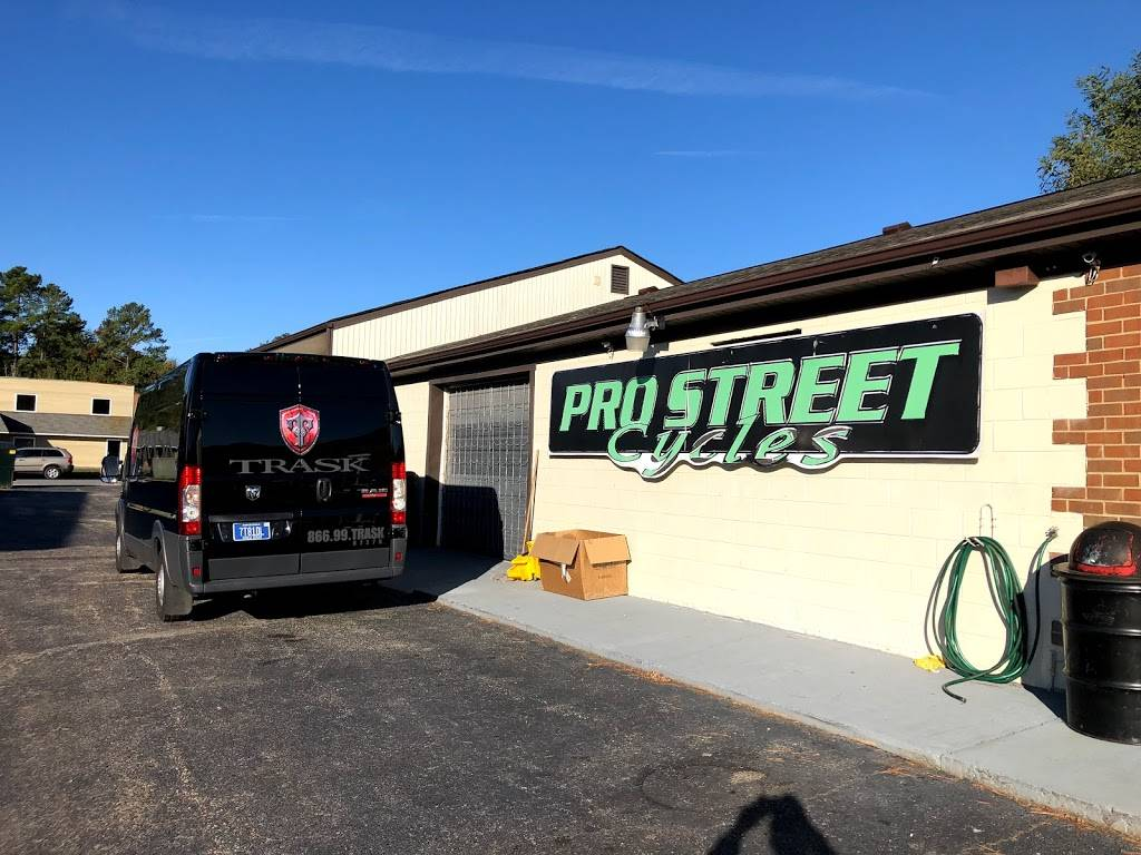 Pro Street Cycles RVA - car repair    Photo 1 of 8   Address: 8810 Jefferson Davis Hwy, Richmond, VA 23237, USA   Phone: (804) 271-7766