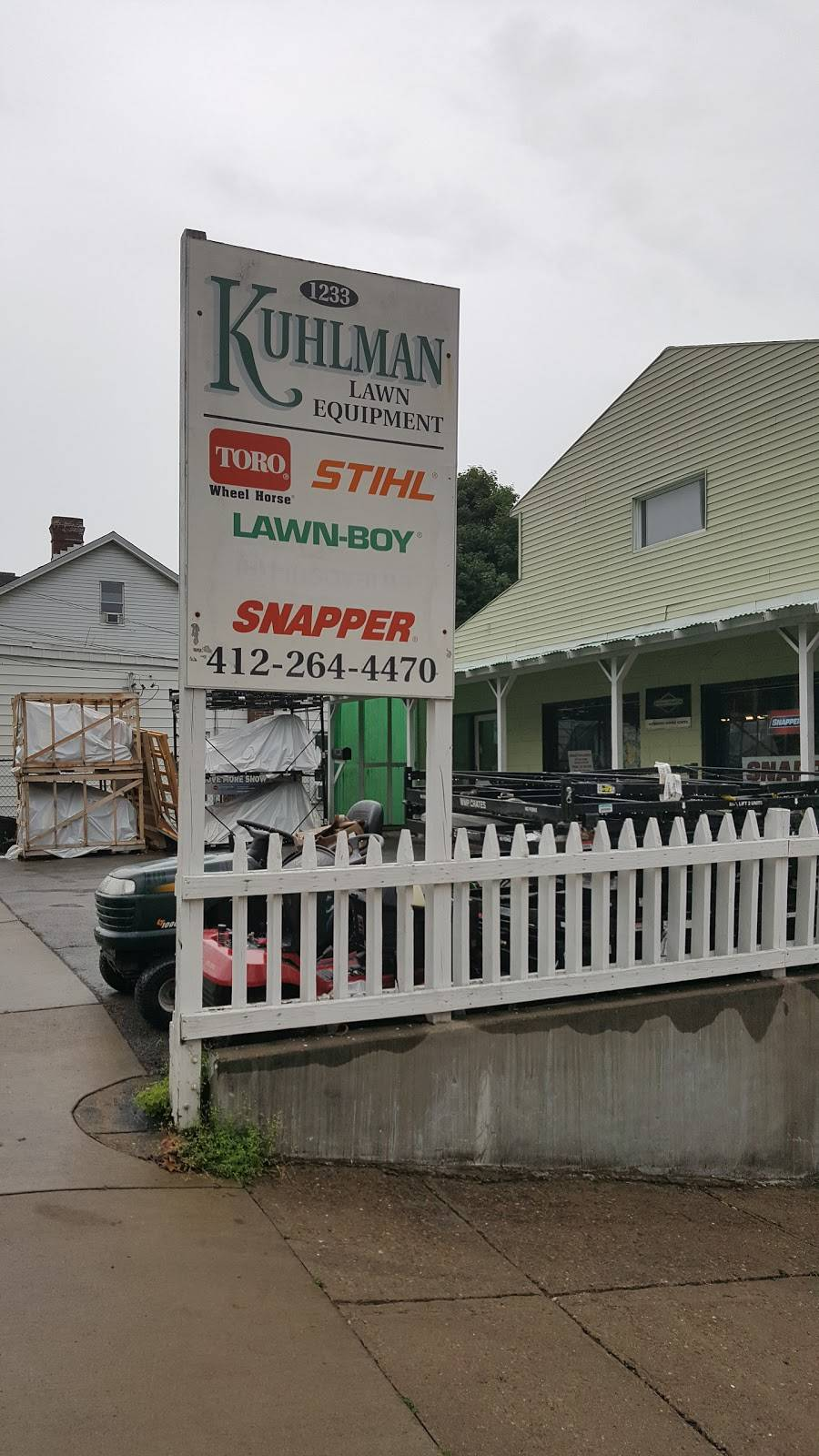 Kuhlmans Lawnmowers - Sales & Service - hardware store  | Photo 1 of 7 | Address: 1233 State Ave, Coraopolis, PA 15108, USA | Phone: (412) 264-4470