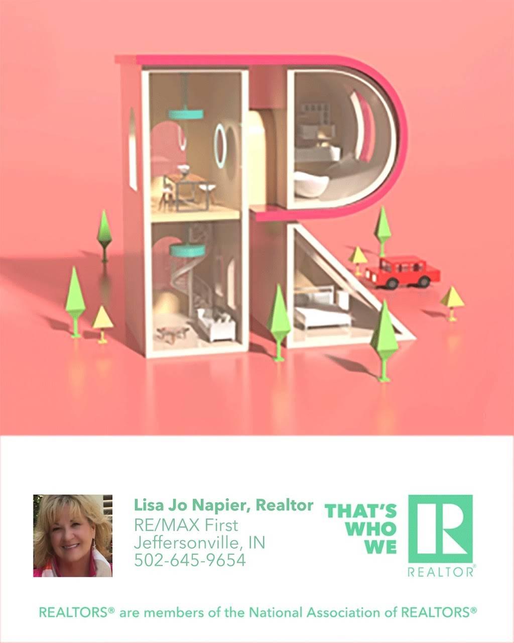 Lisa Jo Napier, Realtor RE/MAX First - real estate agency    Photo 3 of 3   Address: 2123 Veterans Pkwy, Jeffersonville, IN 47130, USA   Phone: (502) 645-9654