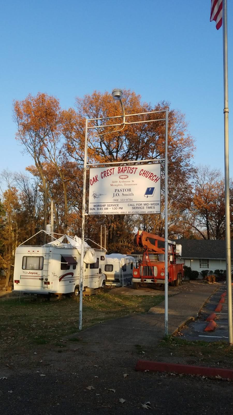 Oakcrest Baptist Church - church  | Photo 2 of 2 | Address: 3600 Ardmore St, Memphis, TN 38127, USA | Phone: (901) 353-0784