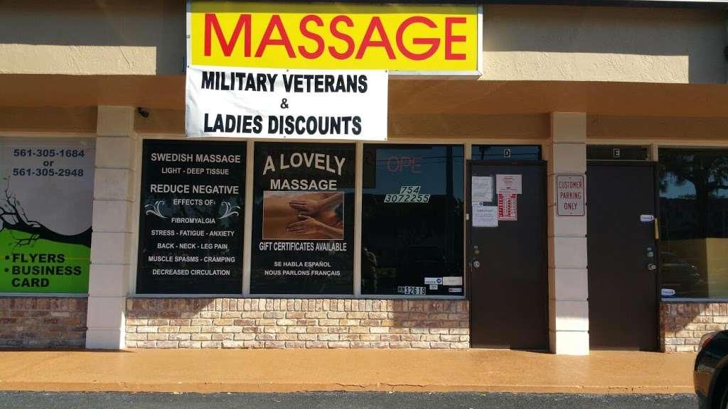 A Lovely Massage - spa  | Photo 1 of 5 | Address: 230 S Cypress Rd H, Pompano Beach, FL 33060, USA | Phone: (754) 307-2255