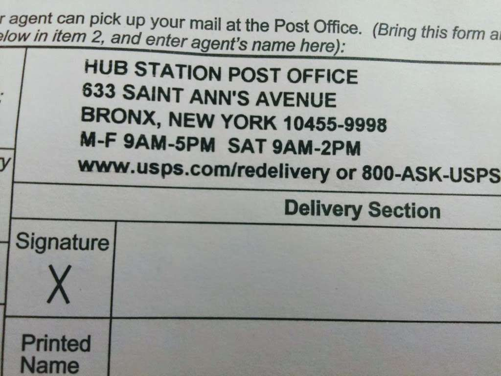 United States Postal Service - post office  | Photo 7 of 8 | Address: 633 St Anns Ave, Bronx, NY 10455, USA | Phone: (800) 275-8777