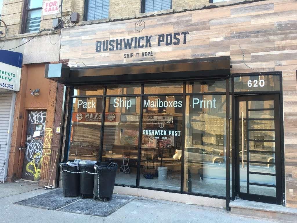 Bushwick Post - post office    Photo 1 of 10   Address: 620 Wilson Ave, Brooklyn, NY 11207, USA   Phone: (718) 676-4336
