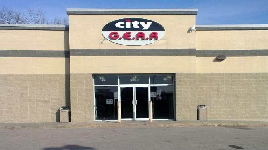 City Gear - shoe store    Photo 1 of 3   Address: 4848 State Ave, Kansas City, KS 66102, USA   Phone: (913) 287-4700