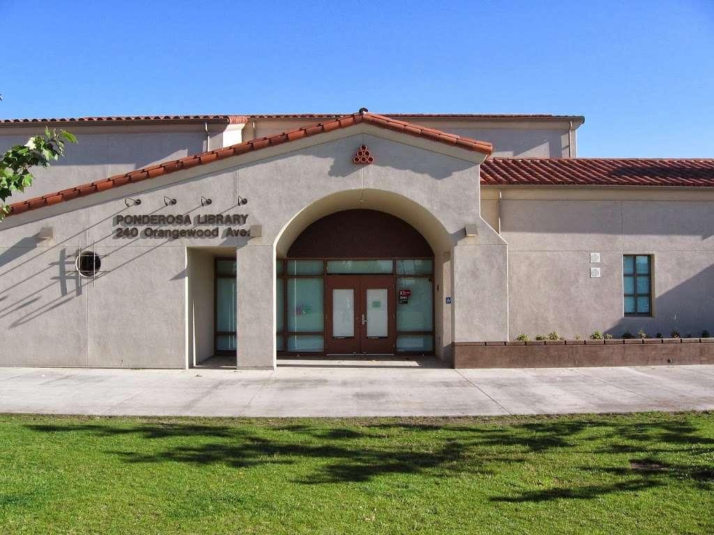 Ponderosa Joint-Use Branch - library  | Photo 2 of 4 | Address: 240 E Orangewood Ave, Anaheim, CA 92802, USA | Phone: (714) 740-0202