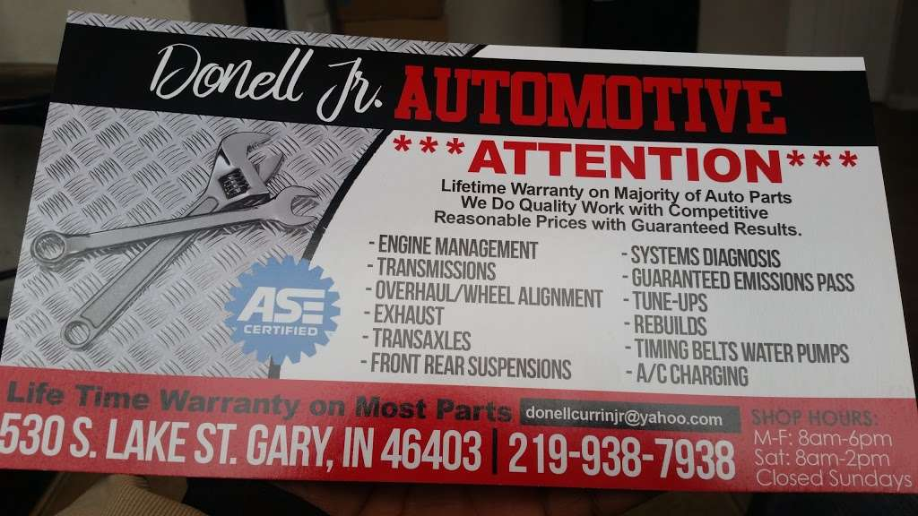 Donell Jr Automotive - car repair  | Photo 3 of 3 | Address: 530 S Lake St, Gary, IN 46403, USA | Phone: (219) 938-7938