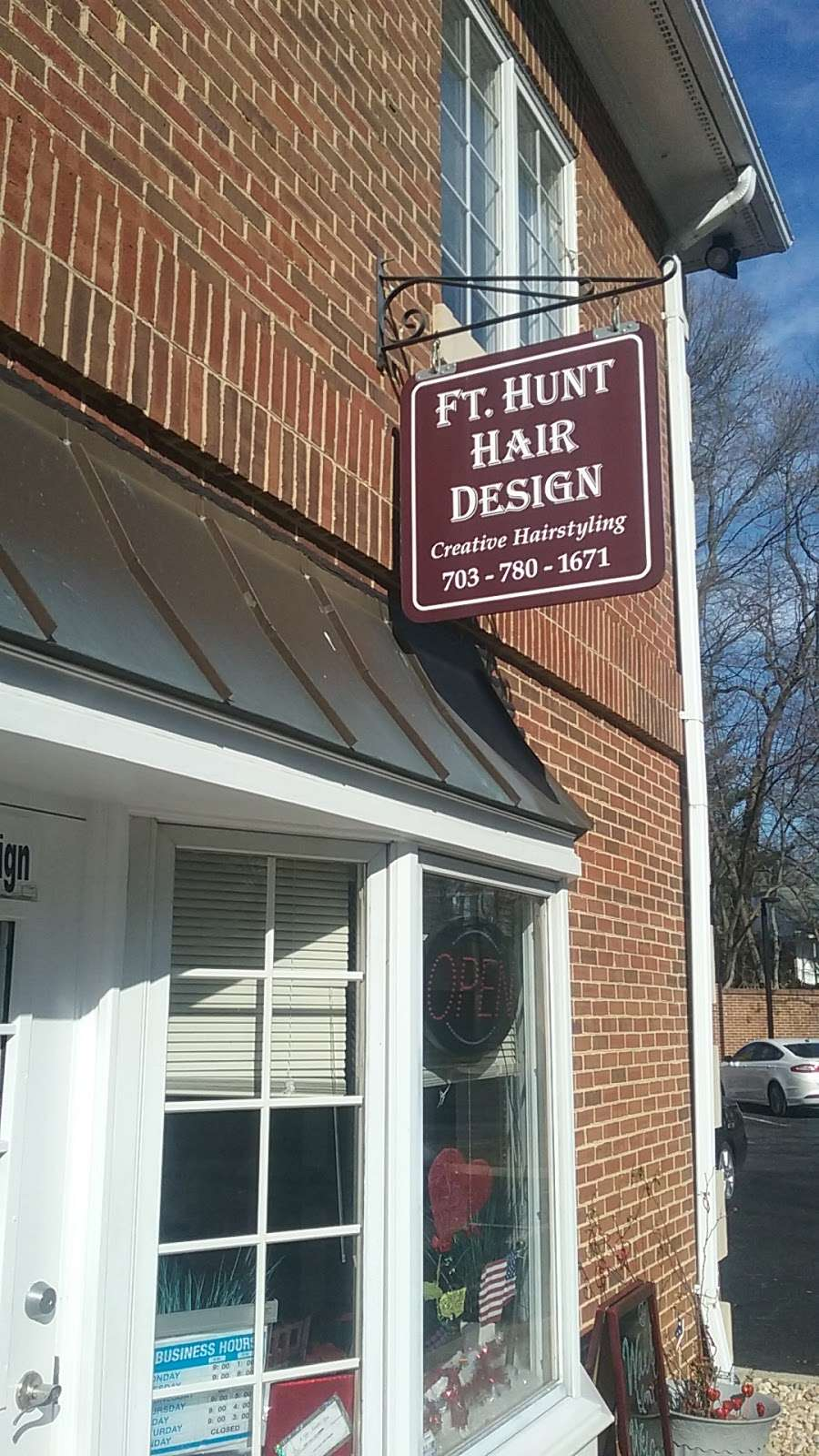 Fort Hunt Hair Design - hair care    Photo 2 of 8   Address: 2406, 1900 Elkin St # 1, Alexandria, VA 22308, USA   Phone: (703) 780-1671