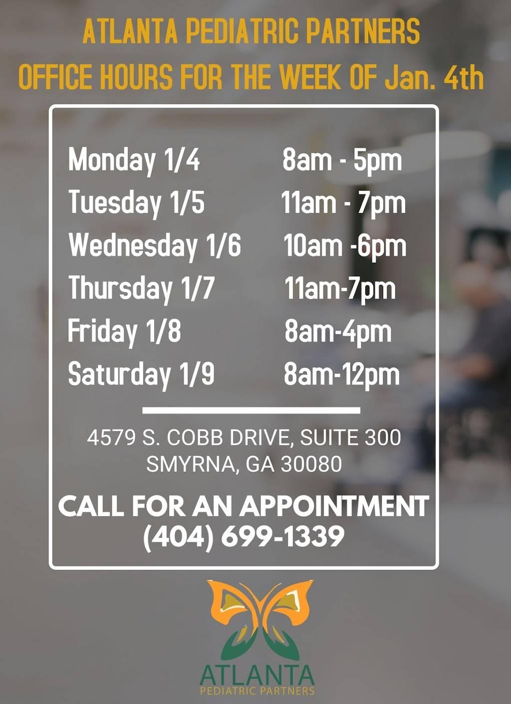 Atlanta Pediatric Partners, PC. - hospital  | Photo 5 of 7 | Address: 4579 S Cobb Dr SE Suite 300, Smyrna, GA 30080, USA | Phone: (404) 699-1339