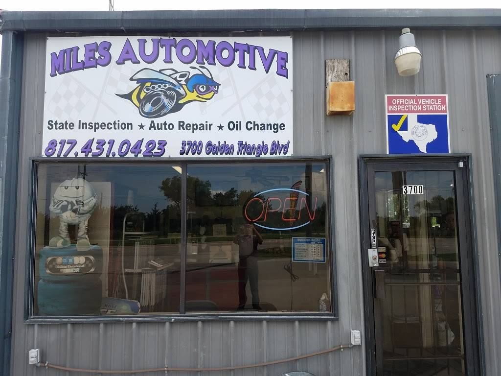 Miles Automotive Inc - gas station  | Photo 3 of 3 | Address: 3700 Golden Triangle Boulevard, Fort Worth, TX 76244, USA | Phone: (817) 431-0423