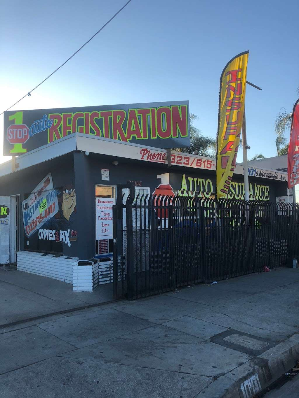 1Stop Auto Insurance & Registration Services - local government office  | Photo 1 of 2 | Address: 10431 Normandie Ave, Los Angeles, CA 90044, USA | Phone: (323) 615-0017