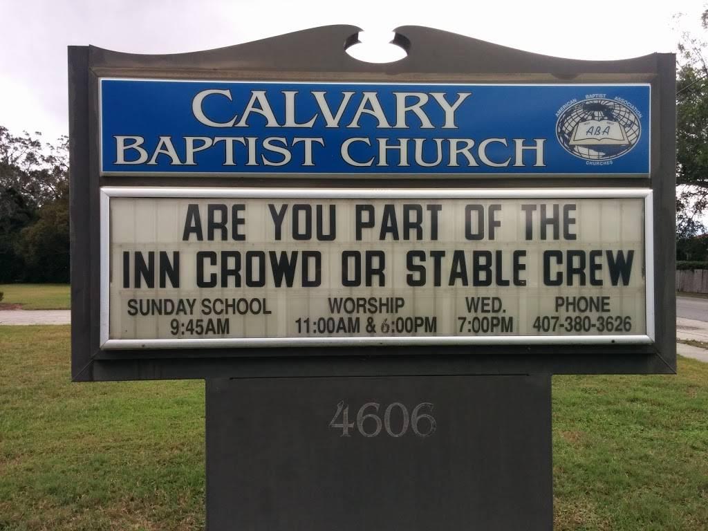 Calvary Baptist Church - church    Photo 2 of 4   Address: 4606 Lake Margaret Dr, Orlando, FL 32812, USA   Phone: (407) 380-3626