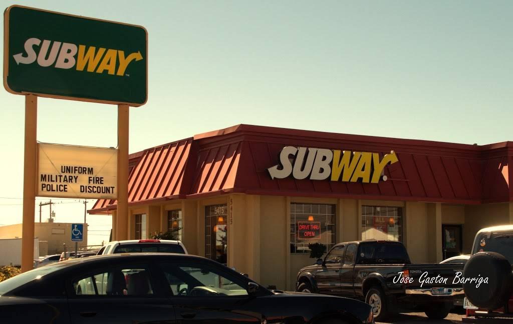 Subway - restaurant    Photo 1 of 9   Address: 5415 Dyer St, El Paso, TX 79904, USA   Phone: (915) 564-0593