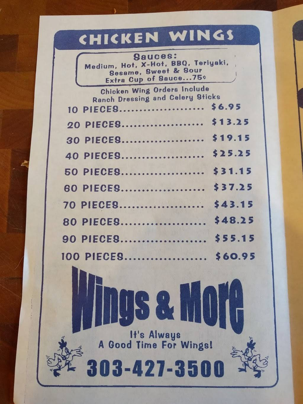 Wings & More - restaurant  | Photo 6 of 10 | Address: 1407 W 84th Ave, Denver, CO 80260, USA | Phone: (303) 427-3500
