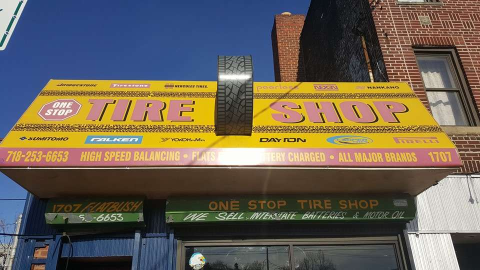 One Stop Tire Shop - car repair  | Photo 1 of 10 | Address: 1707 Flatbush Ave, Brooklyn, NY 11210, USA | Phone: (718) 253-6653