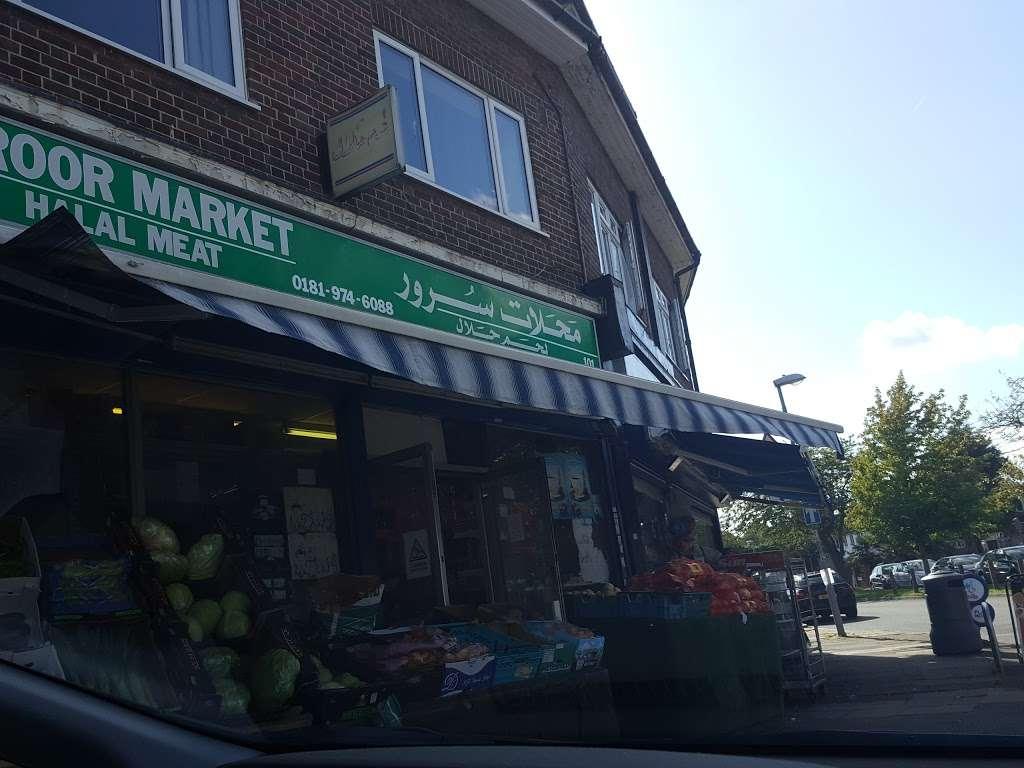 Suroor Market - supermarket    Photo 10 of 10   Address: 101 Robin Hood Way, Roehampton, London SW15 3QE, UK   Phone: 020 8974 6088