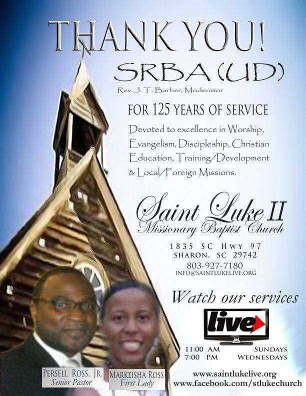 Saint Luke II Missionary Baptist Church - church  | Photo 2 of 5 | Address: 1835 SC-97, Sharon, SC 29742, USA | Phone: (803) 927-7180