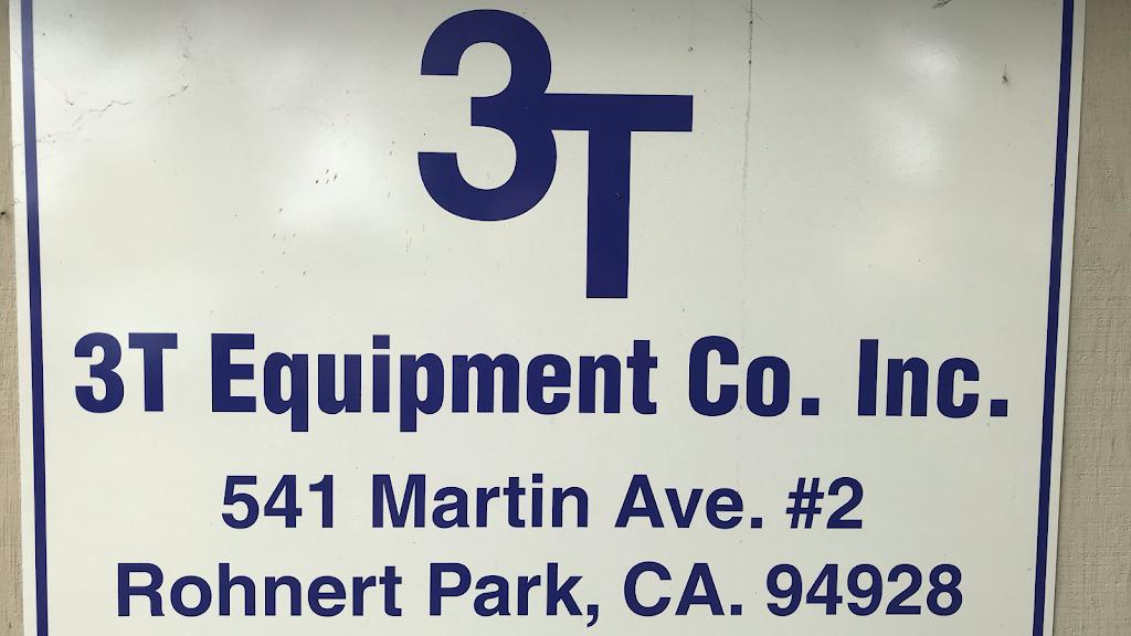 3 T Equipment Co - car repair    Photo 1 of 1   Address: 541 Martin Ave Suite 2, Rohnert Park, CA 94928, USA   Phone: (707) 543-8555