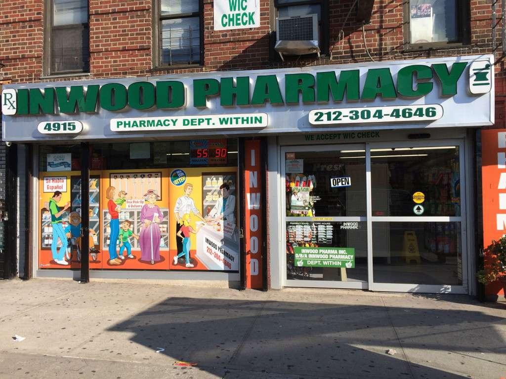 Inwood Pharma Inc D/B/A Inwood Pharmacy - pharmacy  | Photo 1 of 3 | Address: 4915 Broadway # 1, New York, NY 10034, USA | Phone: (212) 304-4646