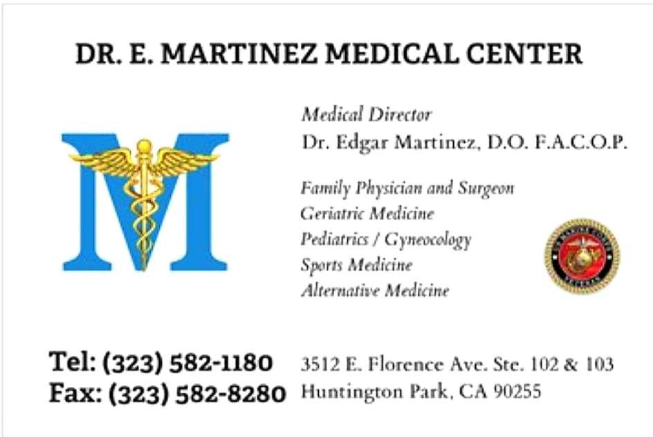 Dr. Edgar I. Martinez D.O. Medical Center / Medical Cannabis Eva - doctor  | Photo 7 of 9 | Address: 3512 E Florence Ave #102-103, Huntington Park, CA 90255, USA | Phone: (323) 582-1180