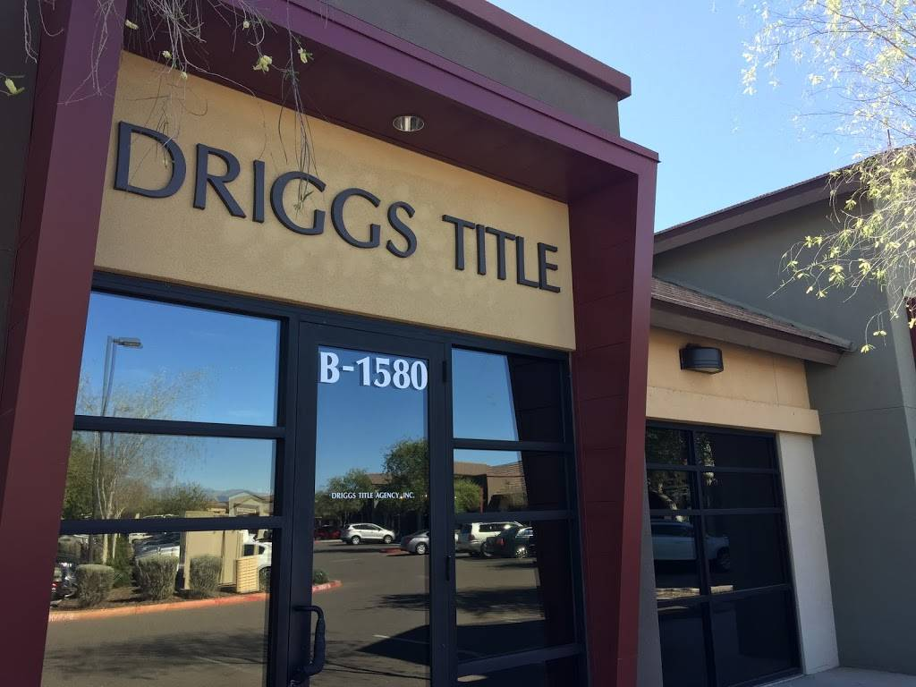 Driggs Title Agency Happy Valley - insurance agency    Photo 1 of 3   Address: 9784 W Yearling Rd B-1580, Peoria, AZ 85383, USA   Phone: (602) 589-5300
