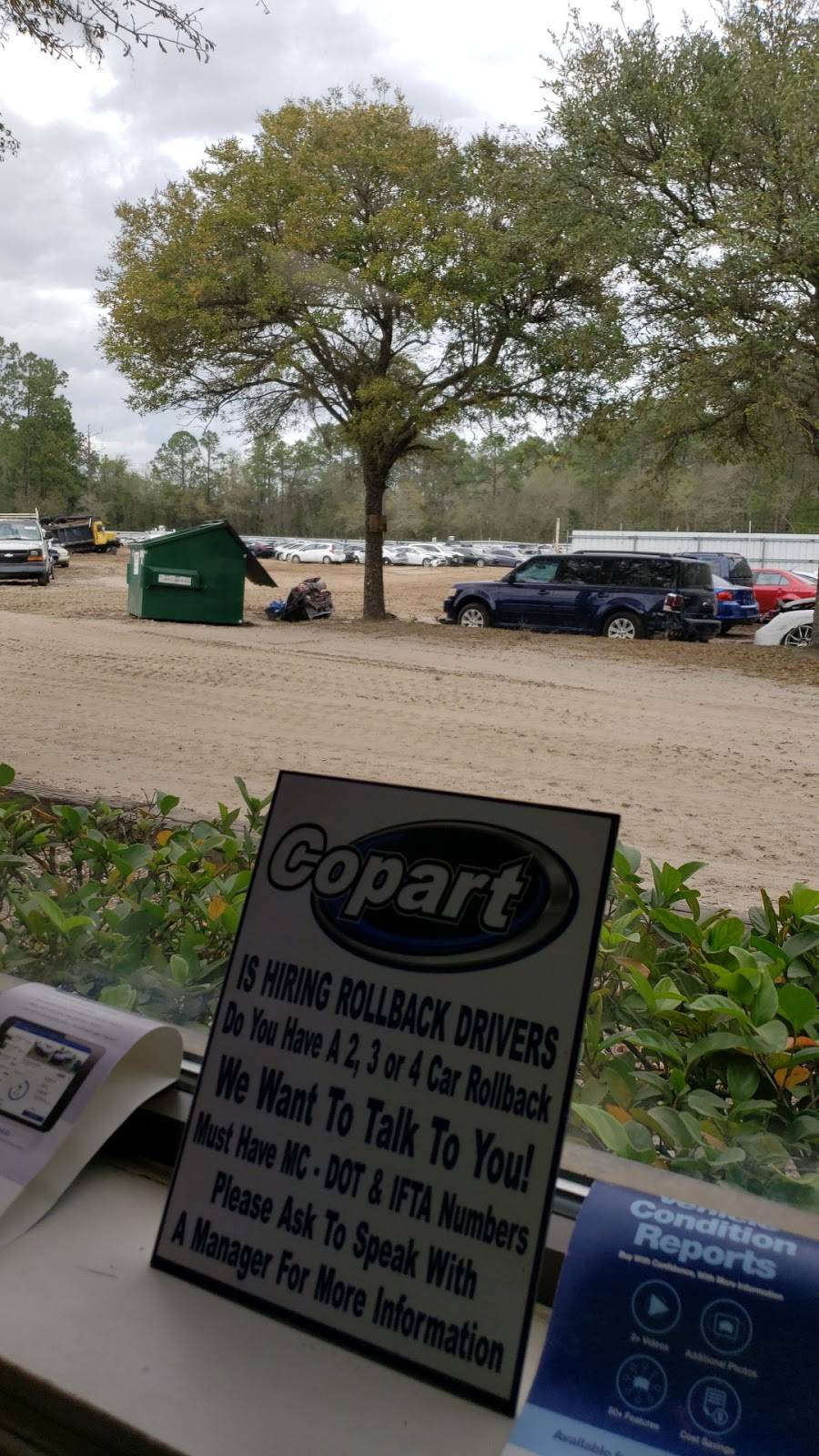 Copart - Jacksonville West - car dealer  | Photo 2 of 10 | Address: 450 Hammond Blvd Building 1, Jacksonville, FL 32220, USA | Phone: (904) 781-3141