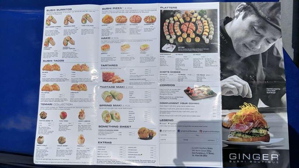 Ginger Sushi Boutique - restaurant  | Photo 7 of 8 | Address: 241 N Ocean Dr, Deerfield Beach, FL 33441, USA | Phone: (954) 708-2500